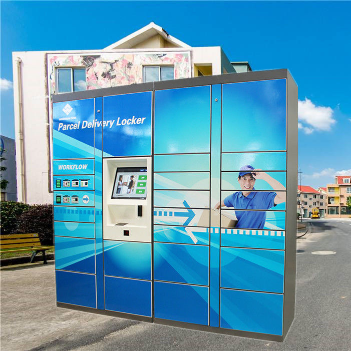 Cold Rolled Steel Mail Locker , Post Box Lockers For Outdoor Logistic