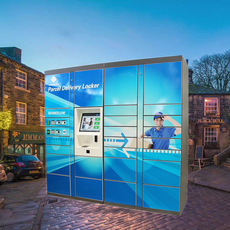 Outdoor Electronic Parcel Delivery Lockers , Digital Parcel Deposit Box