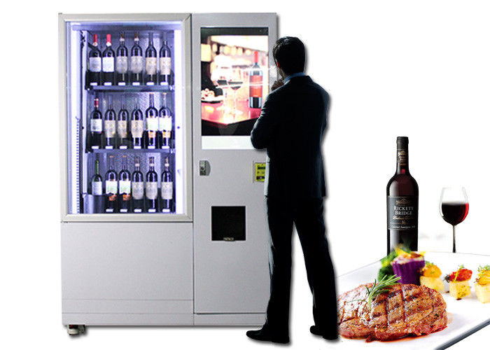Lift Refrigerated Wine Vending Machine , Champagne Beer Vending Kiosk supplier