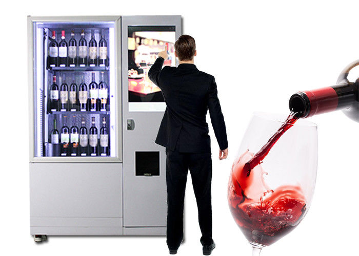 Luxury Elevator Wine Vending Machine With Large Advertising Screen Remote Control System supplier