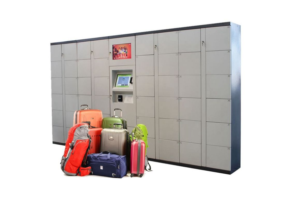 24/7 Airport Automated High Quality Steel  Luggage Lockers With Phone Charging supplier