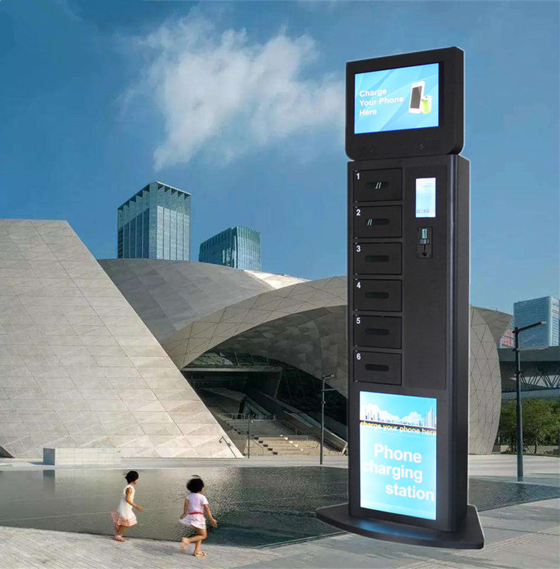 Free Standing Cell Phone Charging Stations 6 Digital Electric Secure Lockers supplier
