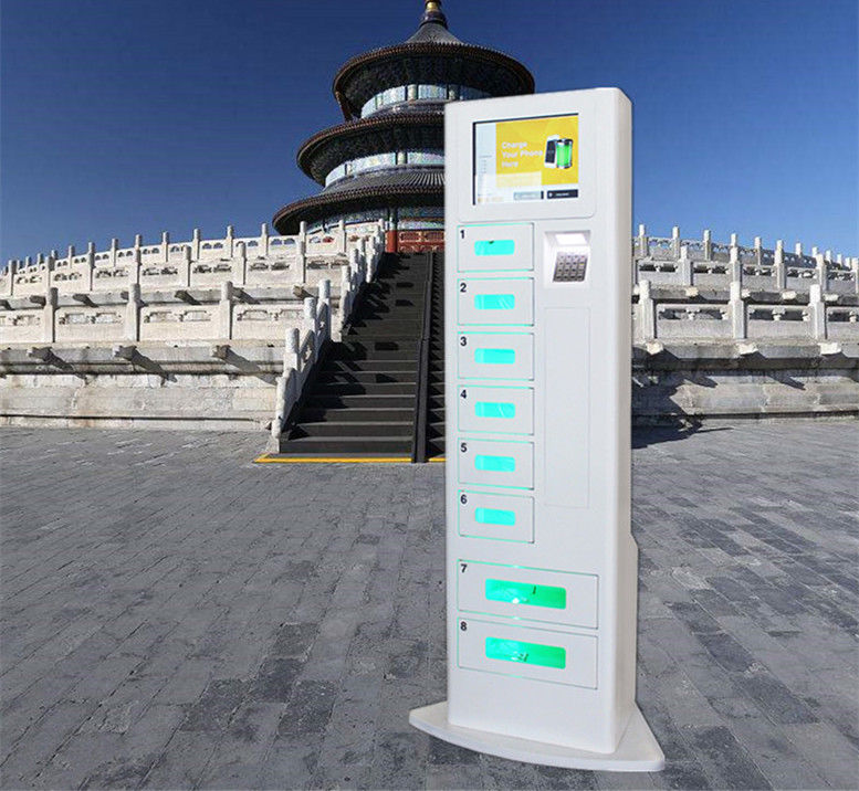 Free Charge Metal Cell Phone Charging Stations Advertising Kiosk With Different Languages UI supplier