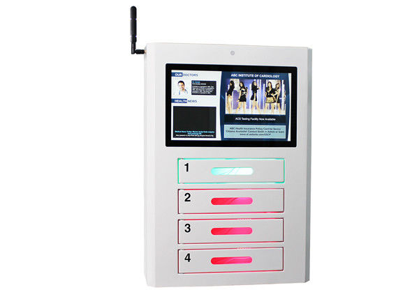 Network Signage Wifi Public Cell Phone Charging Station LCD Advertisement Display supplier