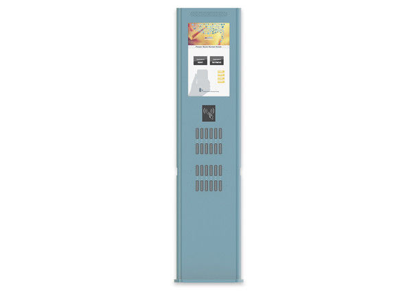 22 Inch LCD Floor Standing Shared Power Bank Rental Station Kiosk Longlife supplier