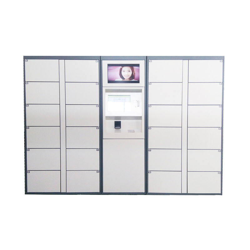 LCD Touch Screen Electric Parcel Delivery Lockers Package Post Locker With Advertising Function