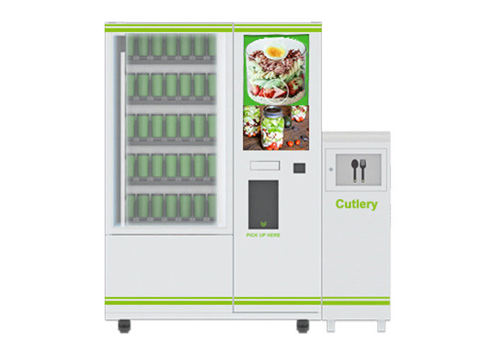 High End Smart Conveyor Belt Salad Vending Machine , Fruit Vending Locker With Lift