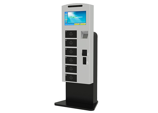 Awesome Patent Design Lobby Standing IPad Cell Phone Mobile Device Charging Station  Kiosk With US Dollar Bill And Coin Acceptor