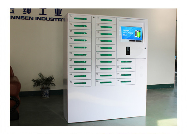 Touch Screen Self Serve Smart Cell Phone Charging Station