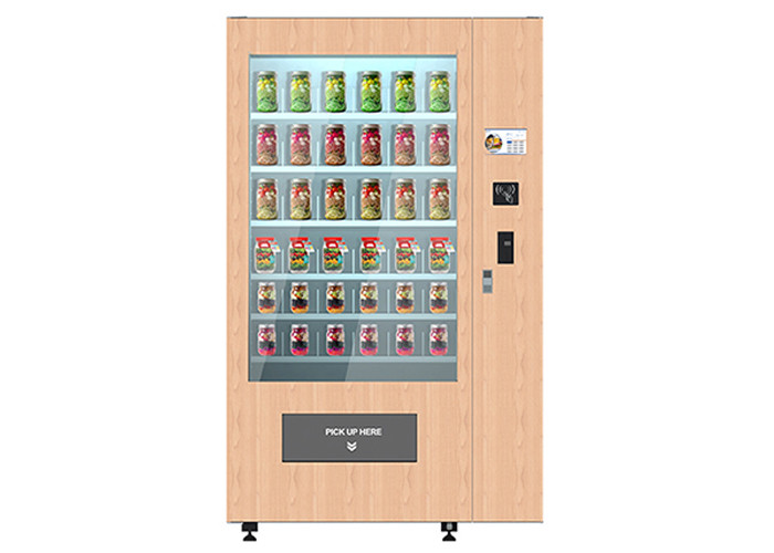Smart Cake Yogurt Salad Vending Machine With Wooden Outlook