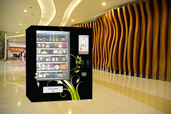 Coin Bill Credit Card Payment Food Vending Machine With