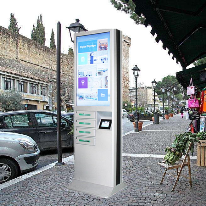 Advertising Public Coin Operated Multi Cell Phone Charging