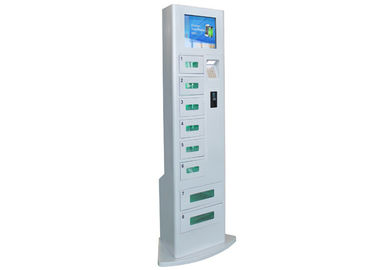 Cell Phone Recharge Station with LCD Touch Screen , 8 Lockers Battery Charging Stations Kiosk