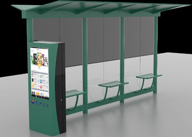 China Auto LCD Outdoor Digital Signage , Digital Bus Stop Shelter Advertising System distributor