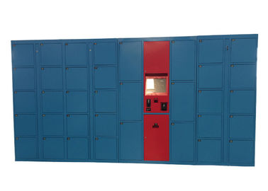 China Network Remote Control Management Luggage Lockers , Pincode Overnight Steel Storage Locker distributor