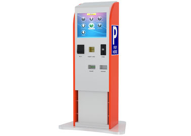 China Bills / Coins / Cards Accepted Touch Screen Stands Kiosk for Parking Payment Indoor distributor