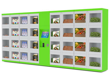 China Automated Refrigerator Food Vending Lockers Different Size Doors for Street / College / Airport distributor