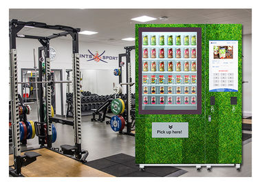 China Public Salad Jar Vending Machine With Conveyor System For Gym University distributor
