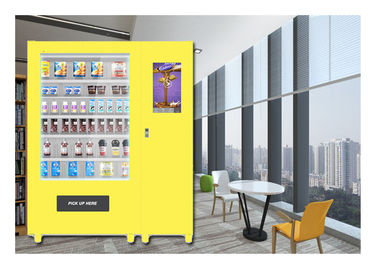 China Customize Glass Bottle Drink Snack Vending Machine With Large Touch Screen distributor