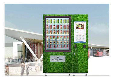 China QR Code Fresh Fruit Food Salad Vending Machine Refrigerator With Touch Screen distributor