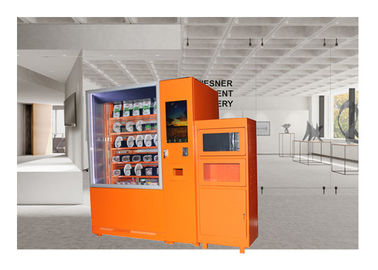China Mini Mart Ready Eat Pizza Hot Food Vending Machine Remote Control Management System distributor