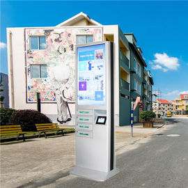 China Outdoor Usb Fast Charging Cell Phone Charging Stations Kiosk Locker 6 Port Coin Operated distributor