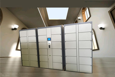 China 36 Doors Automatic Storage Luggage Lockers For Gym / Swimming Pool / Water Park with Steel Enclosure distributor
