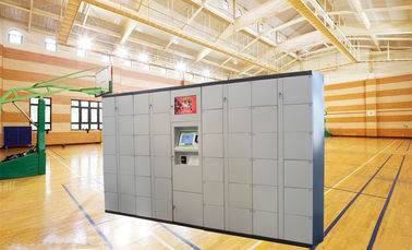 China Electronic Durable Metal Storage Doors Luggage Lockers Rental Locker For Public, Coins Bills Operated distributor