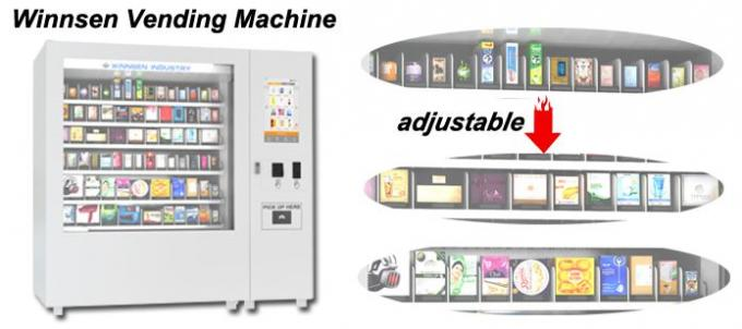 Professional Large Capacity Mini Mart Vending Machine For School / Train Station