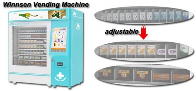 Coin Operated Drug Pharmacy Vending Machine With Printing Recept Invoice Function