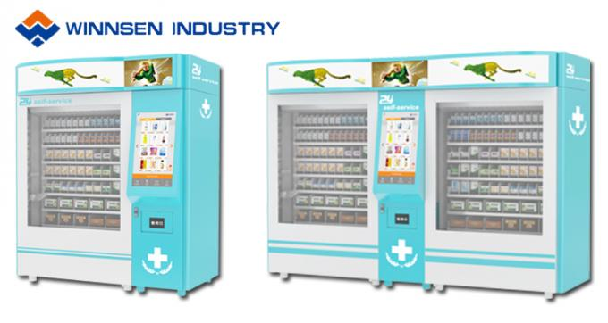Elevator Lift Drug Medicine Vending Machine Kiosk For Pharmacy Shop / Bus Station