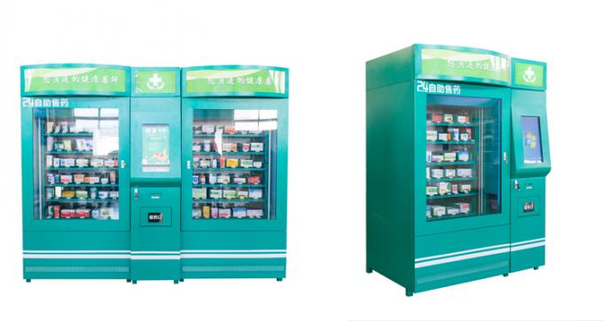 Medicine Auto Pharmacy Vending Machine Touch Screen , Pharmaceutical Vending Machines