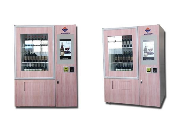 Anti Theft Large Capacity Outdoor Vending Machines For Wine With Coin Bill Card Payments