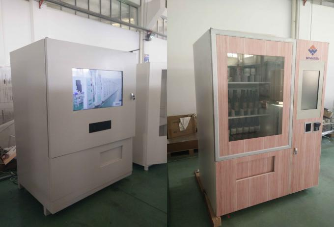 Credit Card Payment Wine Vending Kiosk , Refrigerated Vending Machine With Elevator