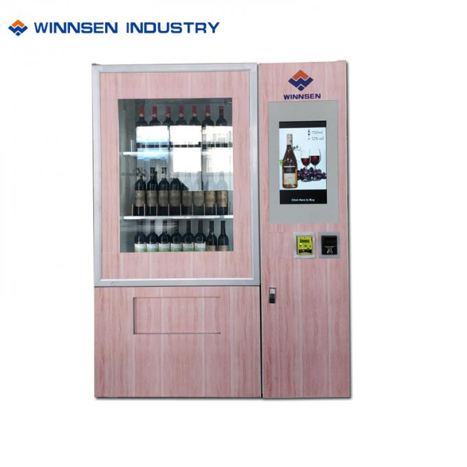 Touch Screen Red Wine Vending Machine For Street , Juice Vending Machine