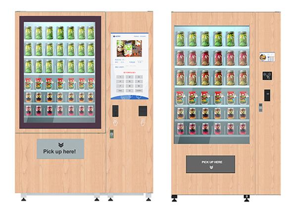 Network Access Salad Fruit Vegetable Vending Machine With 32 Inch Touch Screen