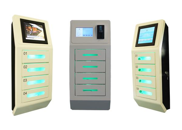 Walled Mounted Bar Restaurant Cell Phone Charging Stations Charger Lockers With 4 Lockers