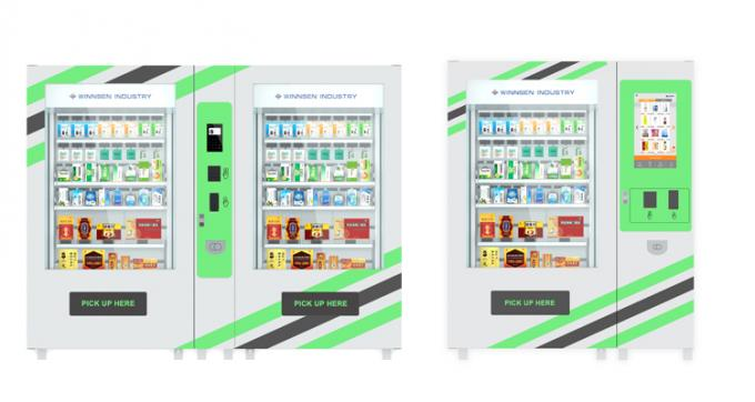 Custom Hi - Tech Remote Control System Pharmacy Vending Machine with Touch Screen and Coolant System