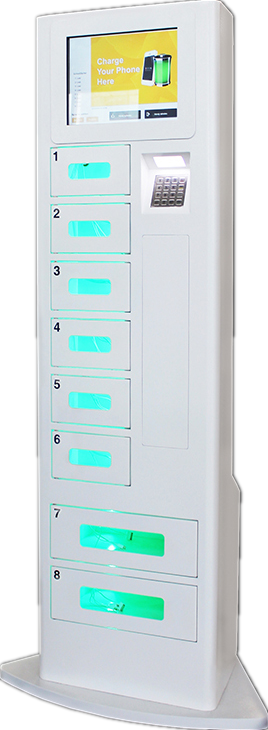 Network Smart Charging Locker , Cell Phone Charging Machine Android Touch Digital AD