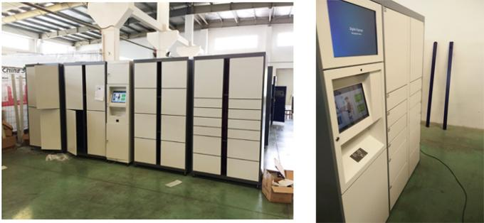 Intelligent Parcel Delivery Lockers For E - Commerce / Online Purchase , 15 Inch Touch Screen
