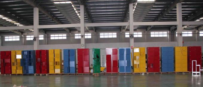 Water Park Luggage Lockers Storage Steel Furniture Belonging With Touch Screen