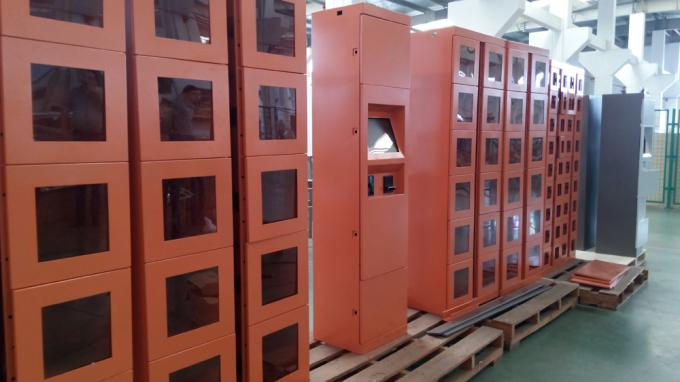Logo Brand Self Service Vending Lockers With Big Touch Screen , OEM / OEM