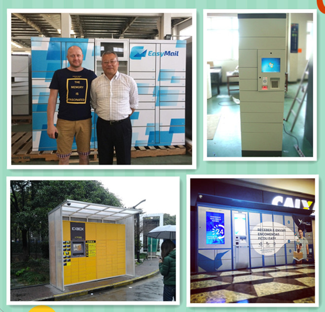 Vertical Digital Steel Automated Parcel Lockers For Delivery Service , CE / FCC