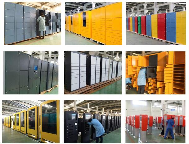 Airport Station Electronic Storage Luggage Lockers Container Rental With Pin Code Access