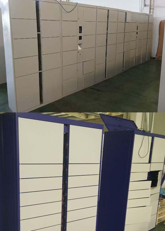 Smart Electronic Public Lockers Rental With Different Payment Devices Languages UI