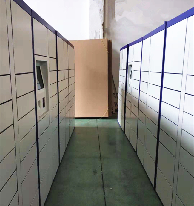 Self Service Dry Cleaning Locker Laundry Cabinet With Locker Status Report For Laundry Business