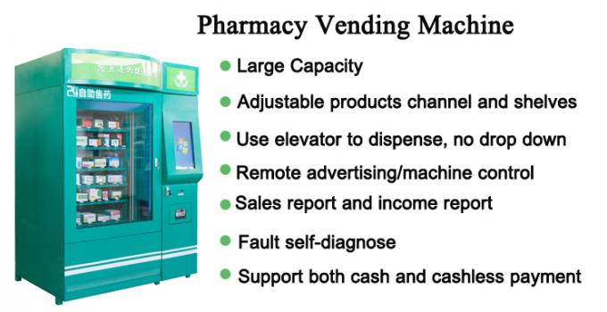 Smart Automatic Mini Mart Drug Medicine Vending Machine Kiosk For Pharmacy