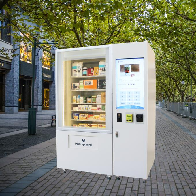 Large Capacity Snack Vending Machine And Coffee / Combo Vending Machine
