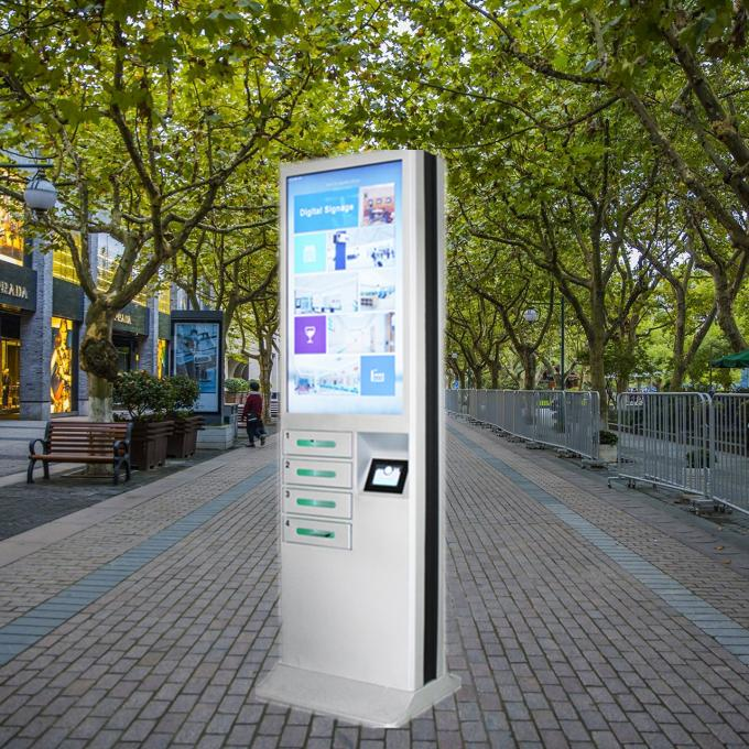 CE FCC Advertising Charging Station , Commercial Smartphone Charging Station