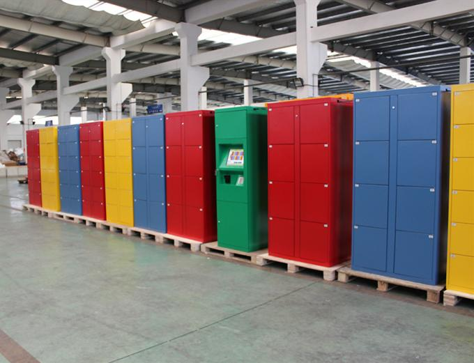 Coins Bills Operated Electronic Durable Metal Storage Doors Luggage Lockers Airport Rental Locker For Public